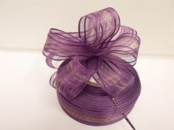 Violet Purple 2 or 25 metres 25mm Fasbo Pull Bow Ribbon Roll Craft Double Side Bows UK